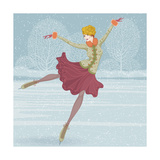 Beautiful Ice Skater Print by  Milovelen
