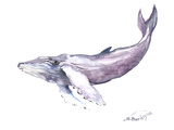 Humpback Whale 2 Poster by Suren Nersisyan
