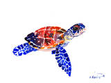 Sea Turtle Babe Schilderijen van Suren Nersisyan