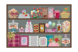 Store of Sweets and Chocolate Posters par  Milovelen