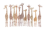 Giraffes Prints by  Milovelen