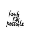 Tout Es Possible Art by Brett Wilson