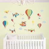 気球ウォールステッカー・壁用シール ウォールステッカー