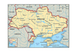 Map of Ukraine Prints