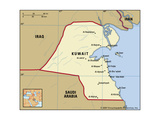 Map of Kuwait Art