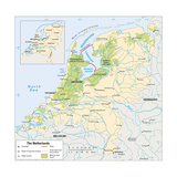 Map of Netherlands Prints