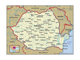 Map of Romania Art