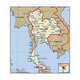 Map of Thailand Posters