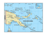 Map of Papua New Guinea Print