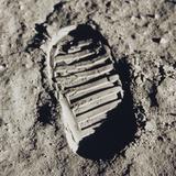 Buzz Aldrin's Footprint Photographic Print