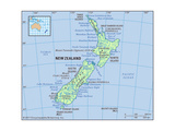 Map of New Zealand Prints