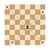 Bishop's Possible Moves in Chess Prints