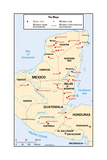 Map of Mayan Sites Poster