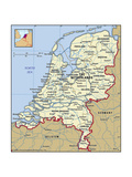 Map of Netherlands Posters