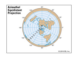 Azimuthal Equidistant Projection Posters