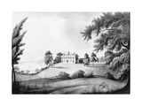Aquatint Showing Mansion of Mount Vernon Posters