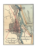 Map of St. Augustine, Florida Prints