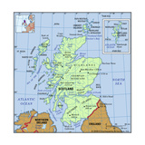 Map of Scotland Print