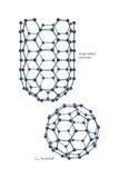 Two Fullerene Structures: an Elongated Carbon Nanotube and Spherical Buckminsterfulleren Print