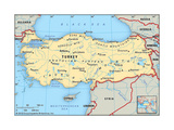 Map of Turkey Prints