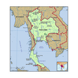 Map of Thailand Print