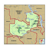 Map of Zambia Art