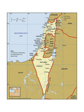 Map of Israel Prints