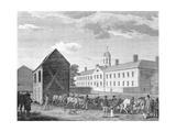 Gaol on Walnut Street in Philadelphia Prints