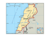 Map of Lebanon Prints