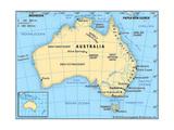 Map of Australia Prints