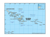 Map of Solomon Islands Prints