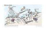 Early Sea Animals Prints