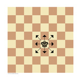 King's Possible Moves in Chess Posters