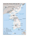 Map of Korean War Posters