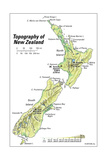 New Zealand Topographical Map Prints