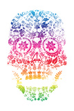 Day of the Dead Sugar Skull Design Prints by  lineartestpilot