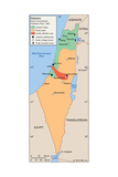 Map of Israel and Palestine Prints