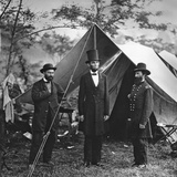 Abraham Lincoln with John Alexander Mcclernand Photographic Print