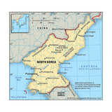 Map of North Korea Art