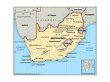 Map of South Africa Pósters