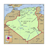 Map of Algeria Prints