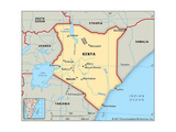 Map of Kenya Póster