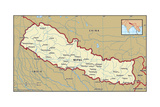 Map of Nepal Prints