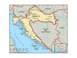 Map of Croatia Poster
