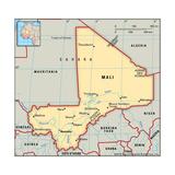 Map of Mali Plakater