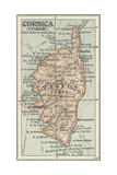 Map of Corsica Prints