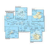 Map of the Federated States of Micronesia Posters