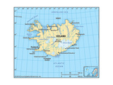 Map of Iceland Art