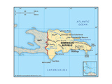 Map of Dominican Republic Poster