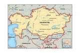 Map of Kazakhstan Prints